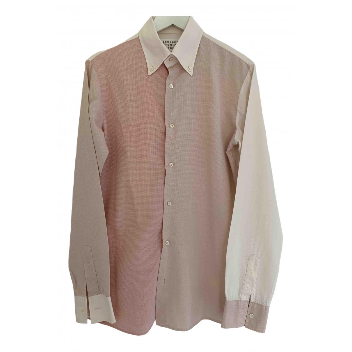 Maison Martin Margiela - Chemises   pour homme en coton - rose