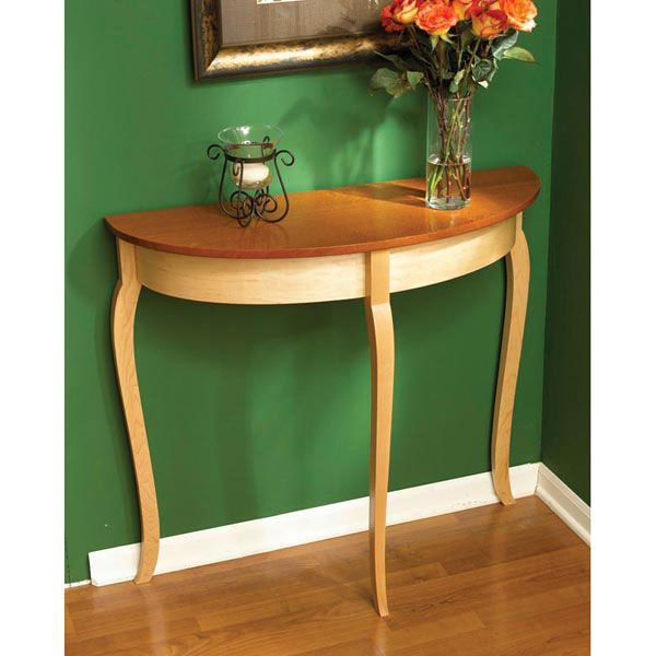 Woodworking Project Paper Plan to Build Simply Graceful Bow Front Table