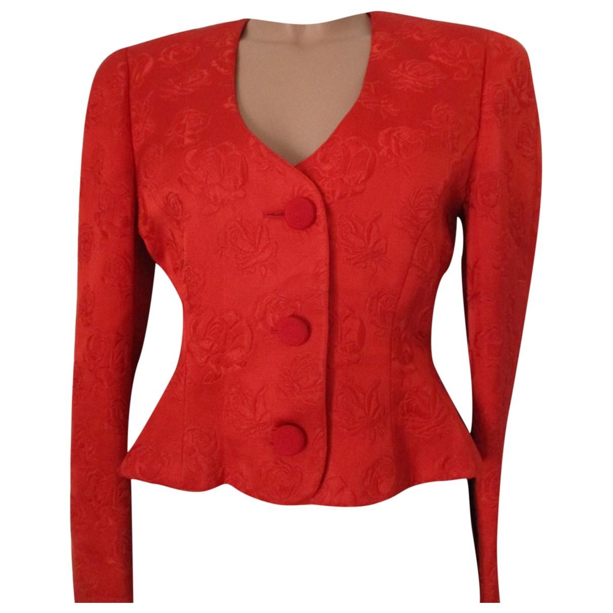 Krizia - Veste   pour femme en laine - rouge