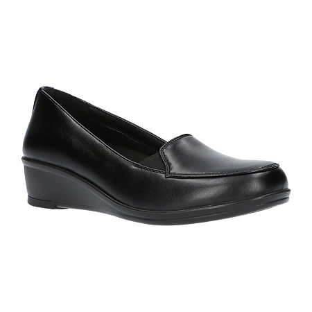 Easy Street Womens Velma Slip-On Shoe-Narrow Width, 7 1/2 Narrow, Black