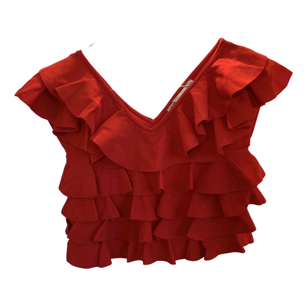 Zara - Top   pour femme - rouge
