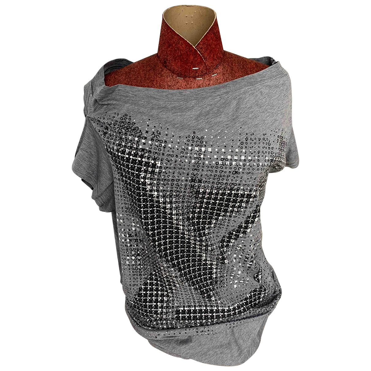 Louis Vuitton - Top   pour femme en coton - gris