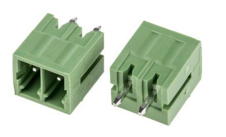 RS PRO , 2 Way, 1 Row, Vertical PCB Terminal Block Header (10)