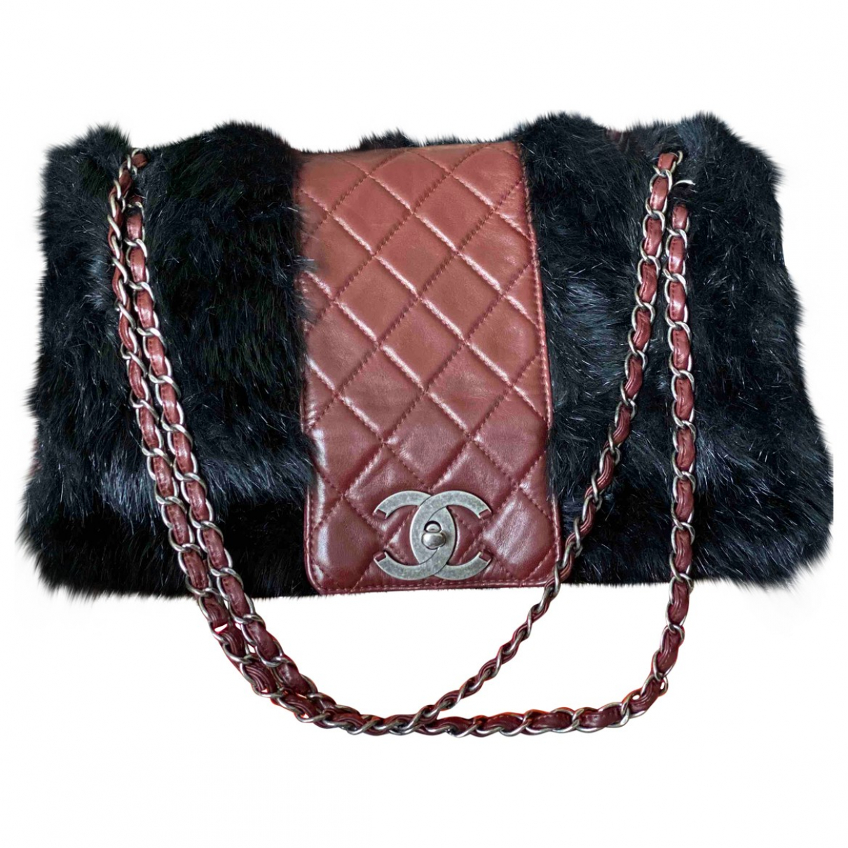 Chanel N Multicolour Faux fur handbag for Women N