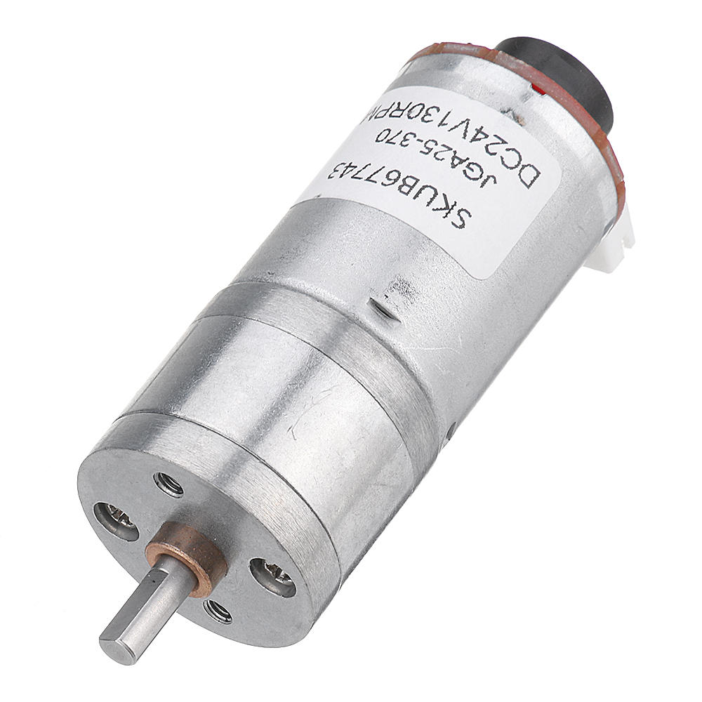 Machifit 25GA370 DC 24V Micro Gear Reduction Motor with Encoder Speed Dial Reducer