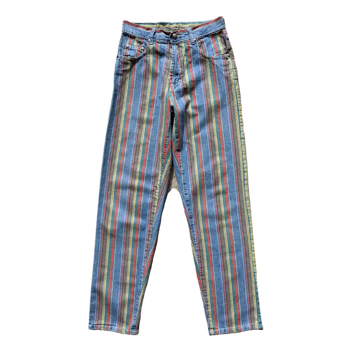 Non Signé / Unsigned \N Multicolour Cotton Jeans for Women 28 US