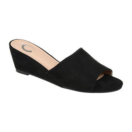 Journee Collection Womens Pavan Slip-On Shoe, 5 1/2 Medium, Black