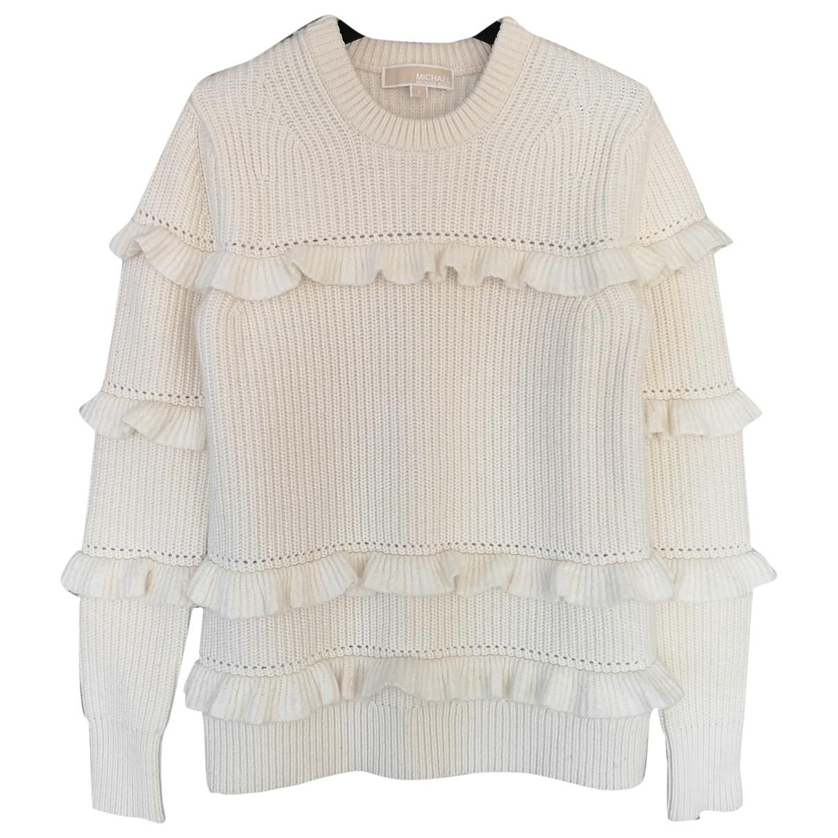 Michael Kors - Pull   pour femme en laine - ecru