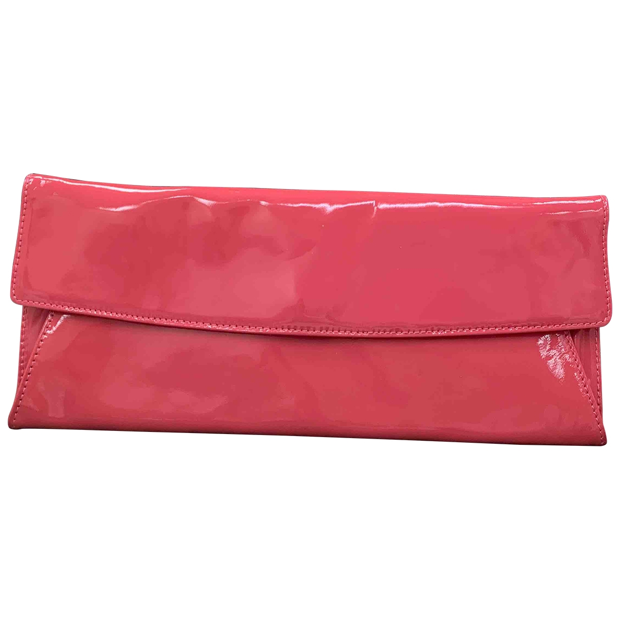 Non Signe / Unsigned \N Clutch in  Rosa Lackleder