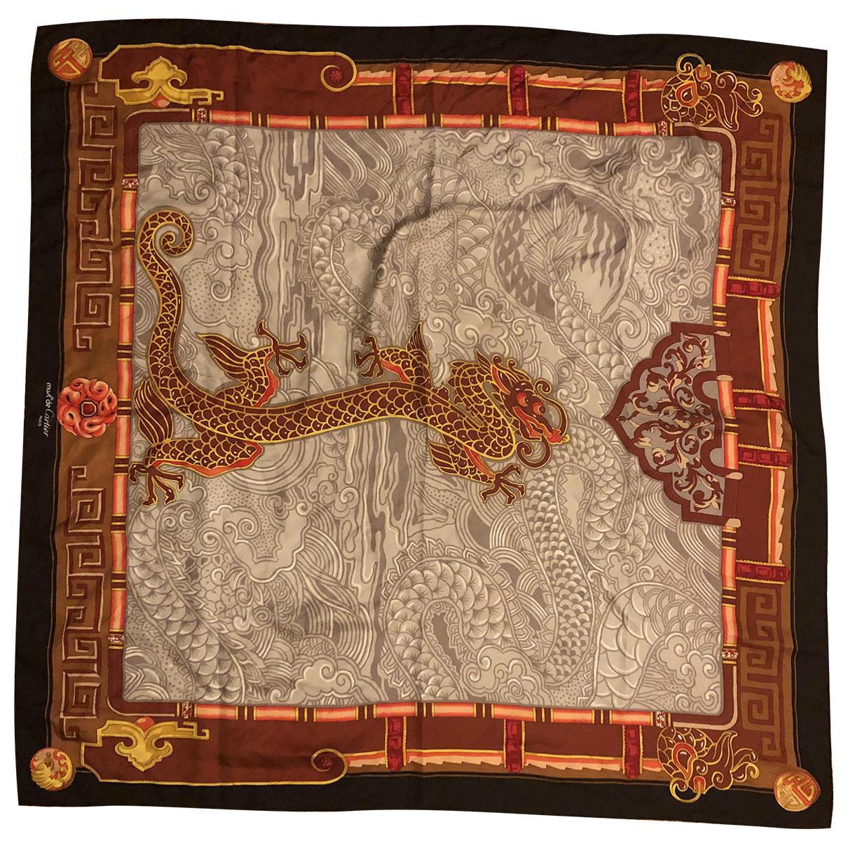 Cartier N Black Silk Silk handkerchief for Women N
