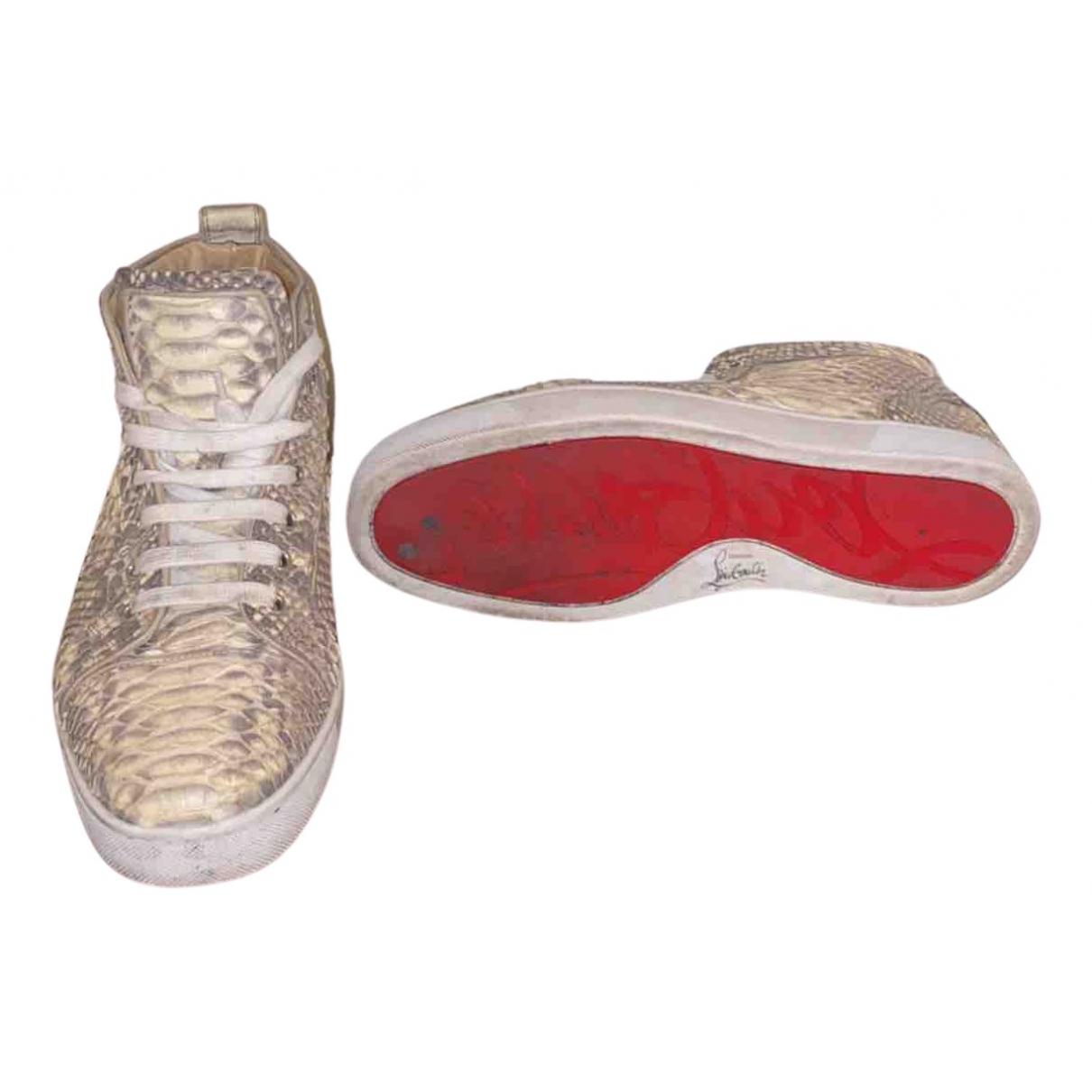 Christian Louboutin \N Sneakers in  Gelb Leder