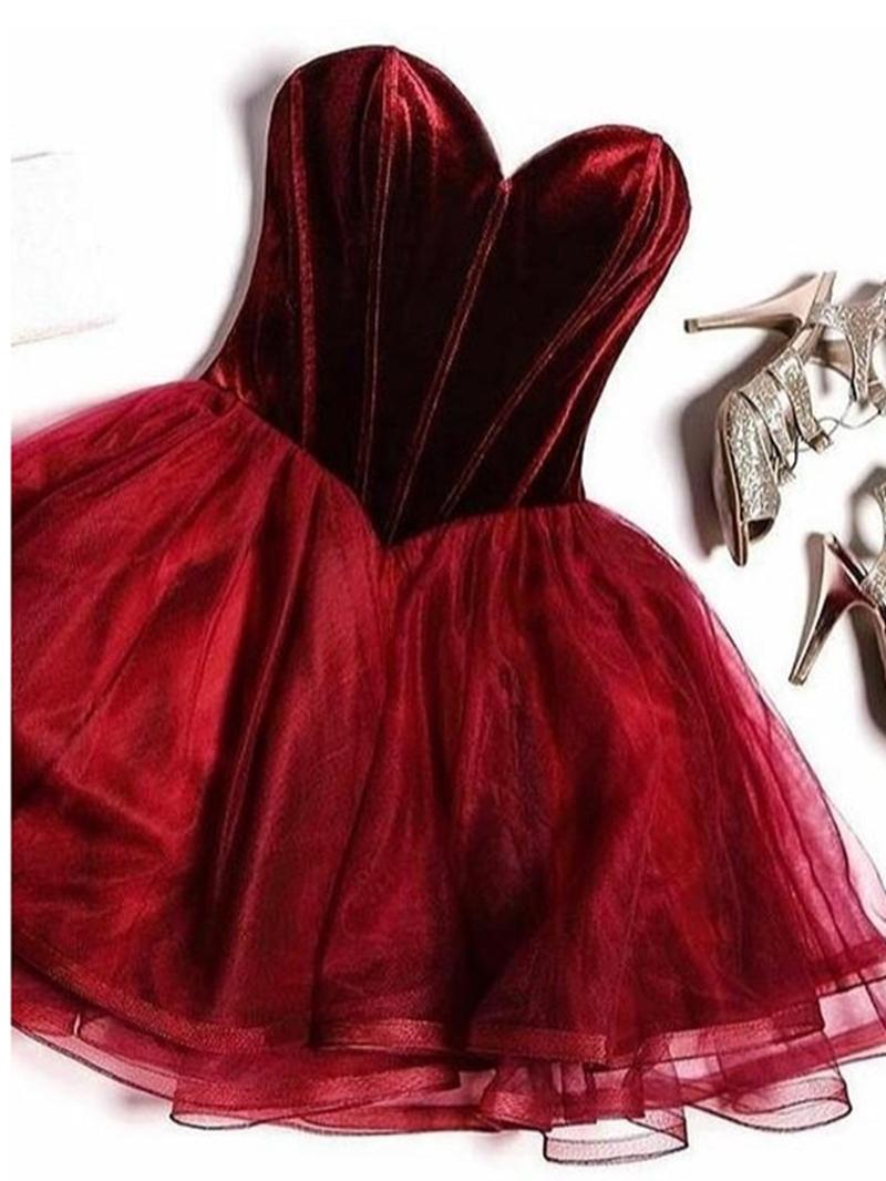 Ericdress Sweetheart Mini Sleeveless A-Line Homecoming Dress