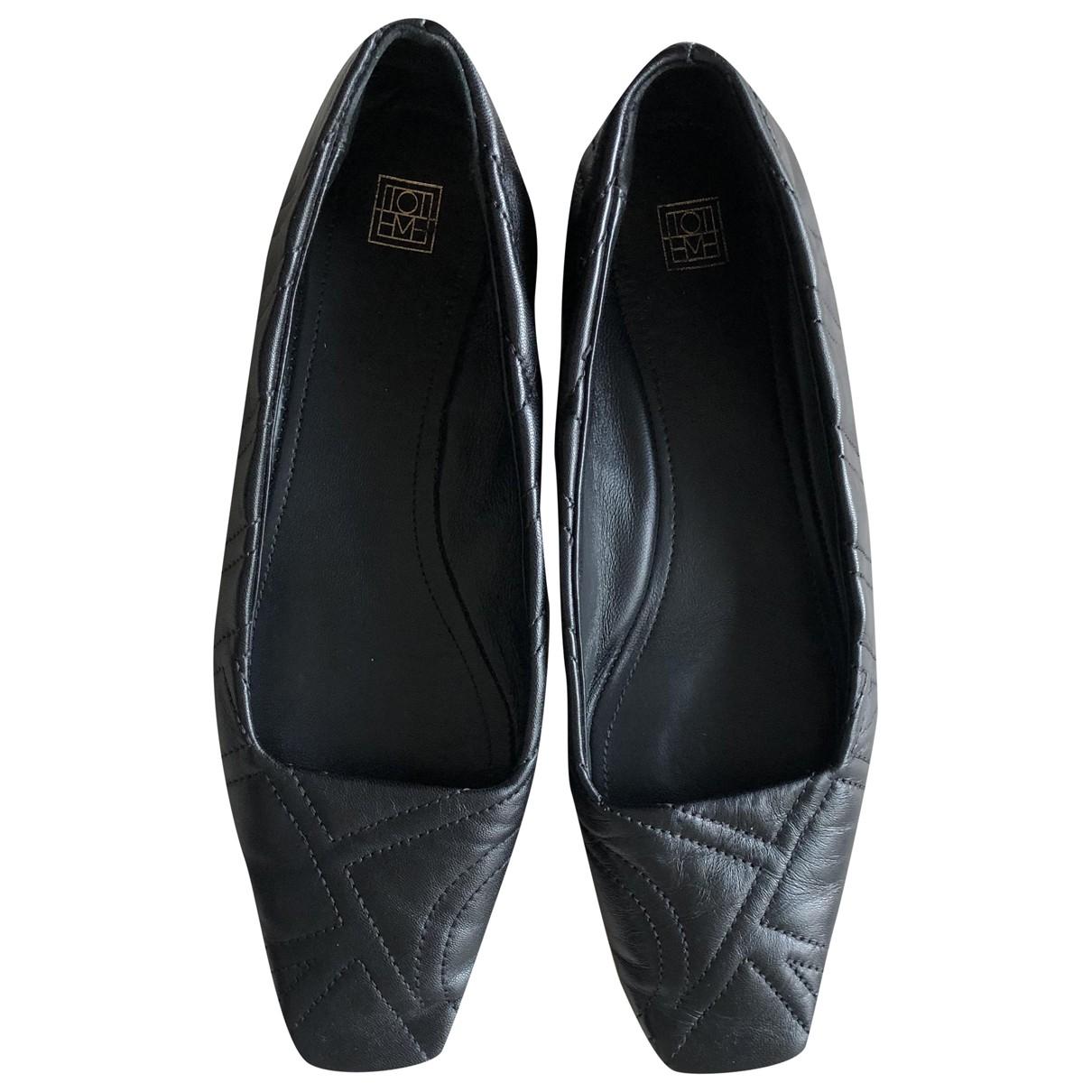 Toteme - Ballerines   pour femme en cuir - noir
