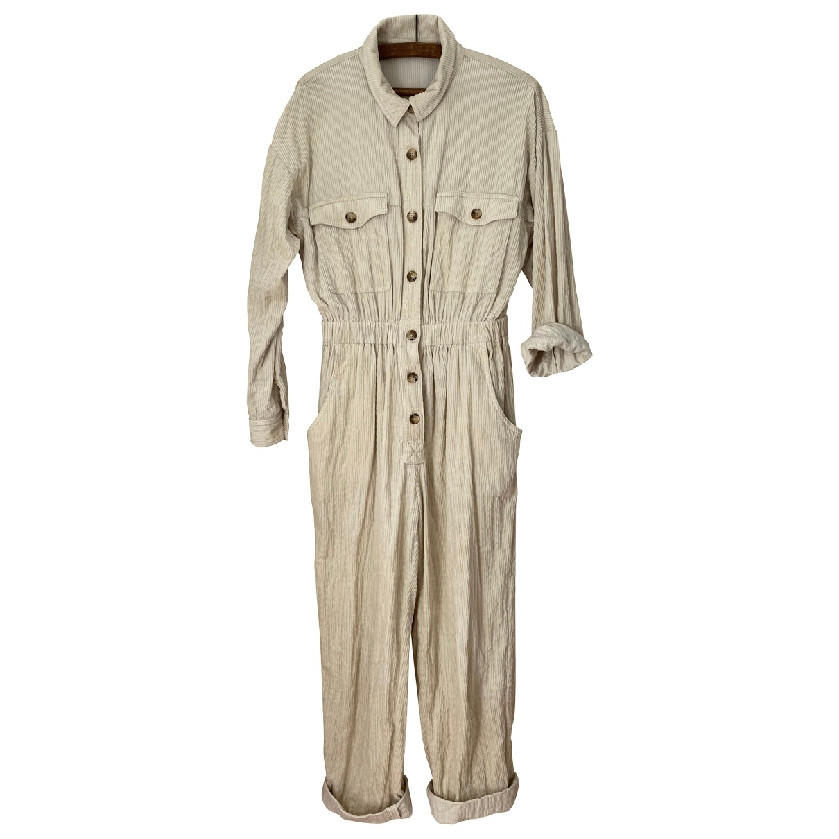 Sessun \N Jumpsuit in  Beige Samt