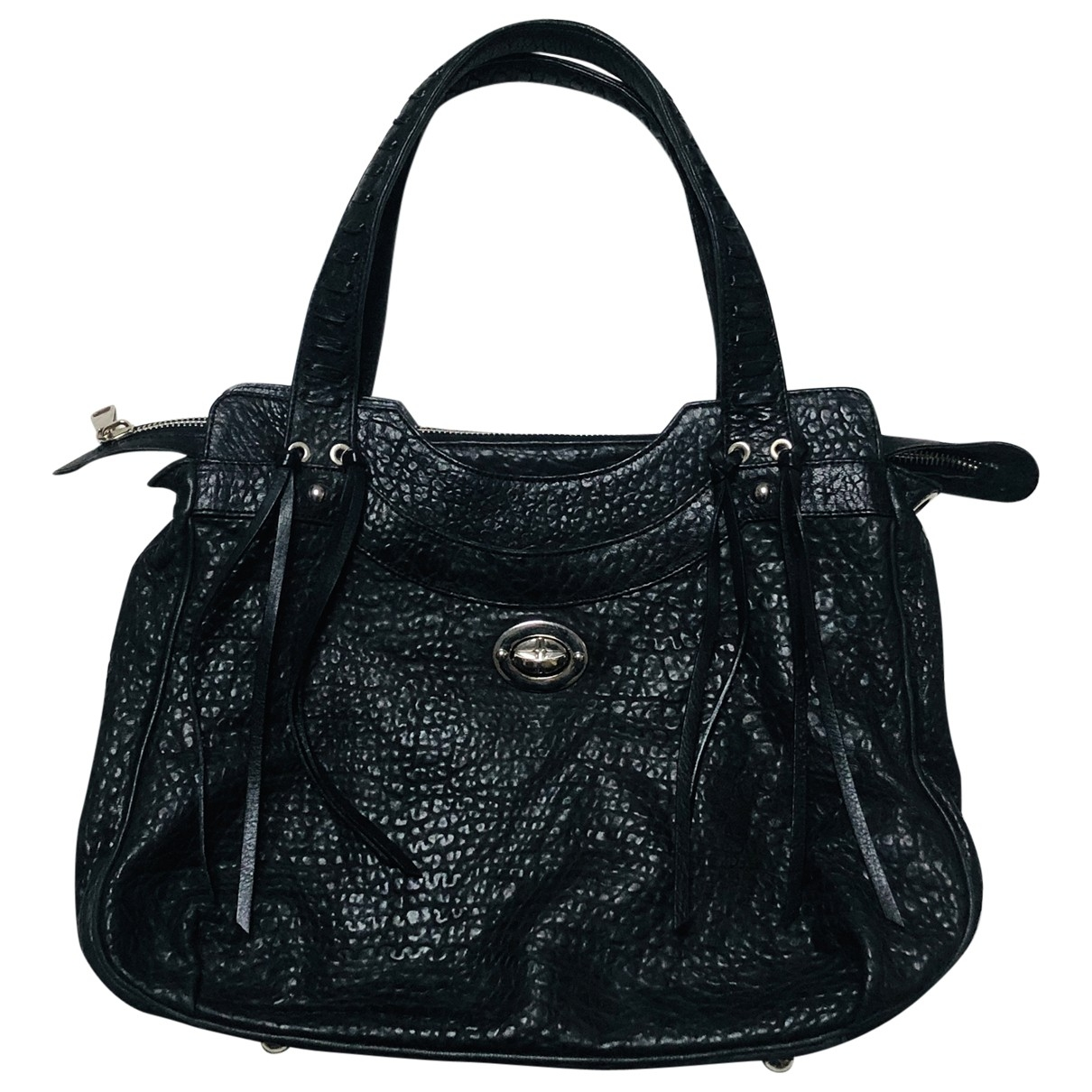 Kaviar Gauche \N Black Leather handbag for Women \N