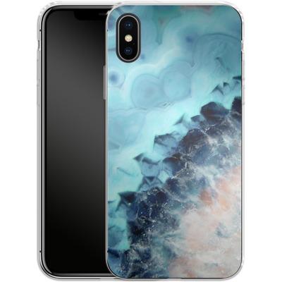 Apple iPhone X Silikon Handyhuelle - Ocean Agate von Emanuela Carratoni