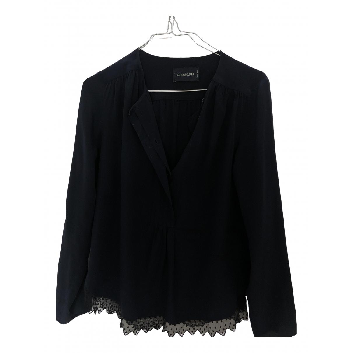 Zadig & Voltaire - Top   pour femme en coton - bleu