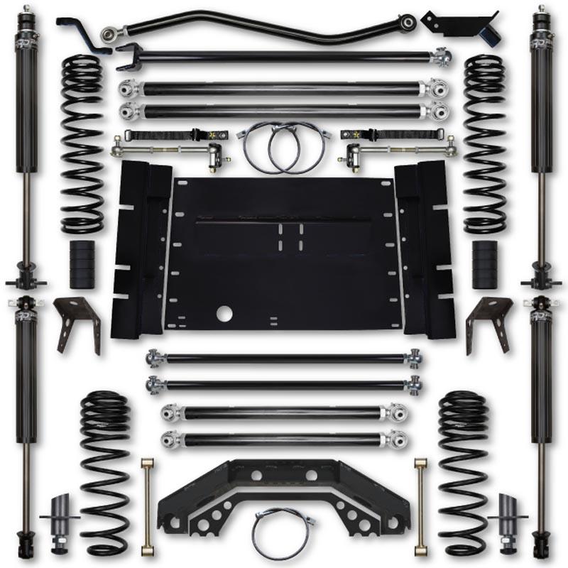 Rock Krawler LJ45XFLA-4S1 LJ 4.5 Inch X Factor 4 Inch Stretch Stg 1 Long Arm Lift Kit w/ 2.25 RRD Shocks 04-06 Wrangler Unlimited
