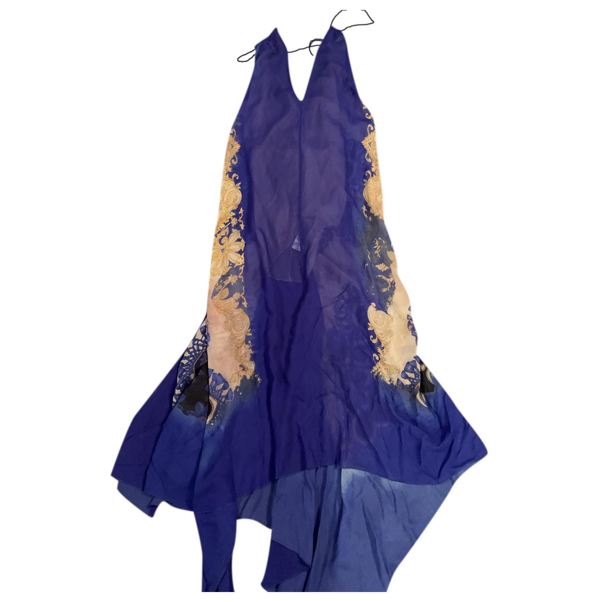 Patrizia Pepe N Blue Silk dress for Women 40 IT