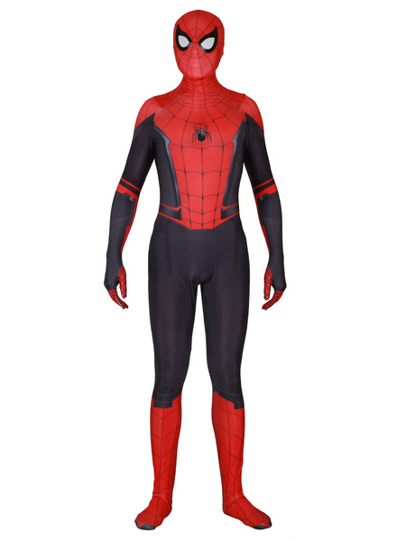 Milanoo Marvel Comics Spider Man Far From Home Lycra Spandex Jumpsuit Film Cosplay Costume