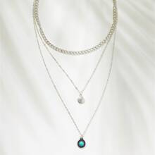 Turquoise Charm Layered Necklace