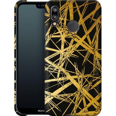 Huawei P20 Lite Smartphone Huelle - Strokes Gold Black von Khristian Howell