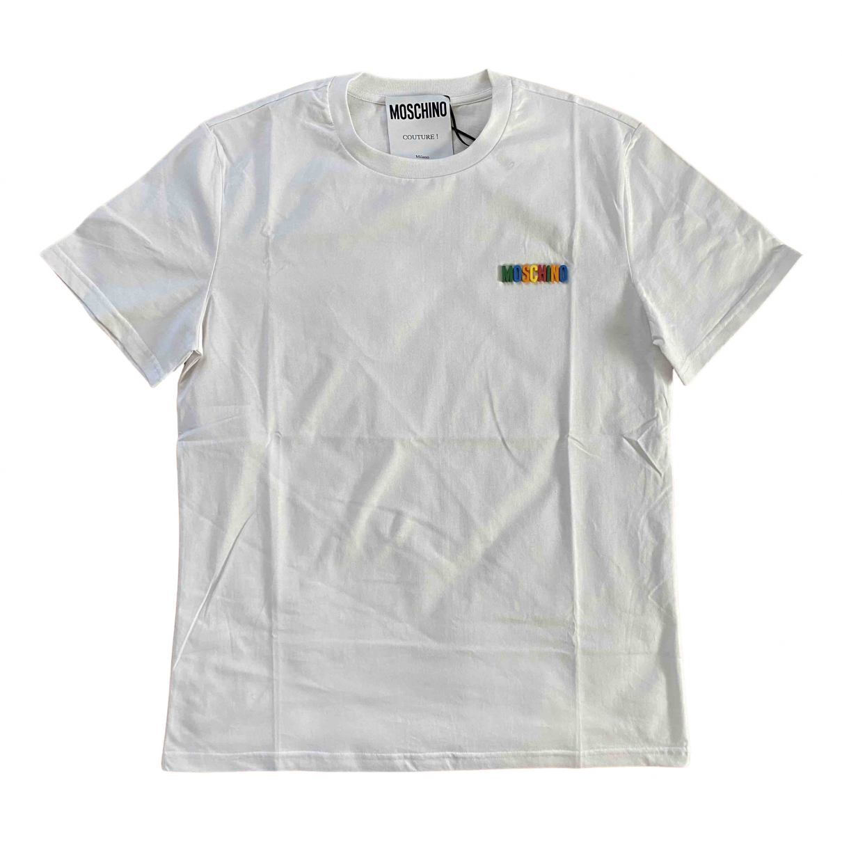 Moschino N White Cotton T-shirts for Men L International