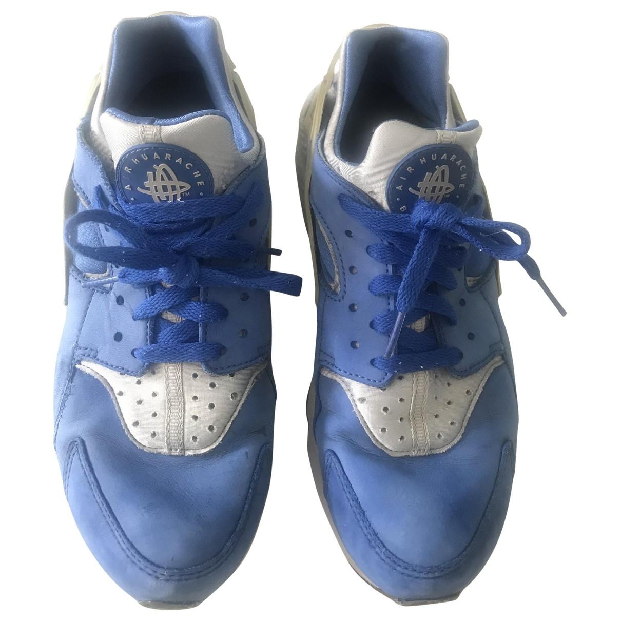 Nike - Baskets Huarache pour homme en suede - bleu