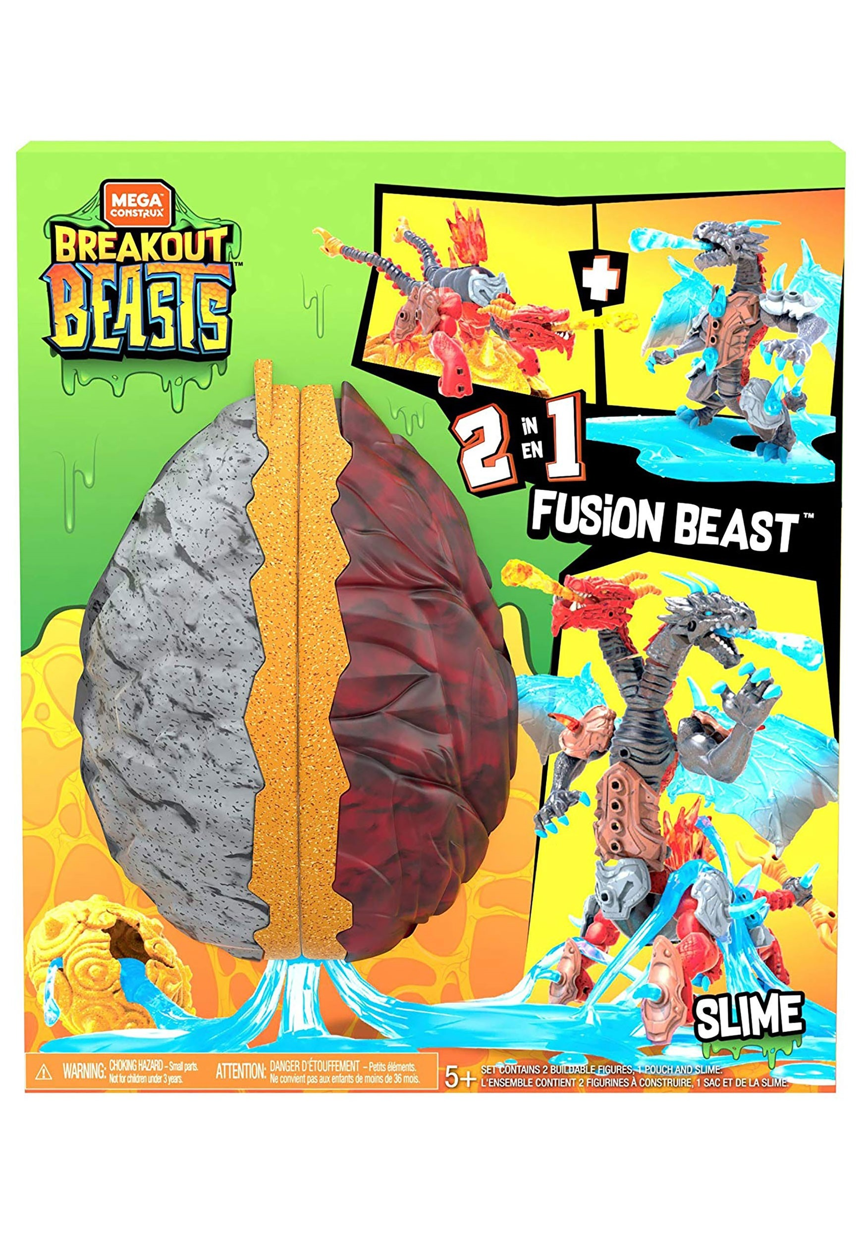 2 in 1 Fusion Beast Mega Breakout Beasts Figure