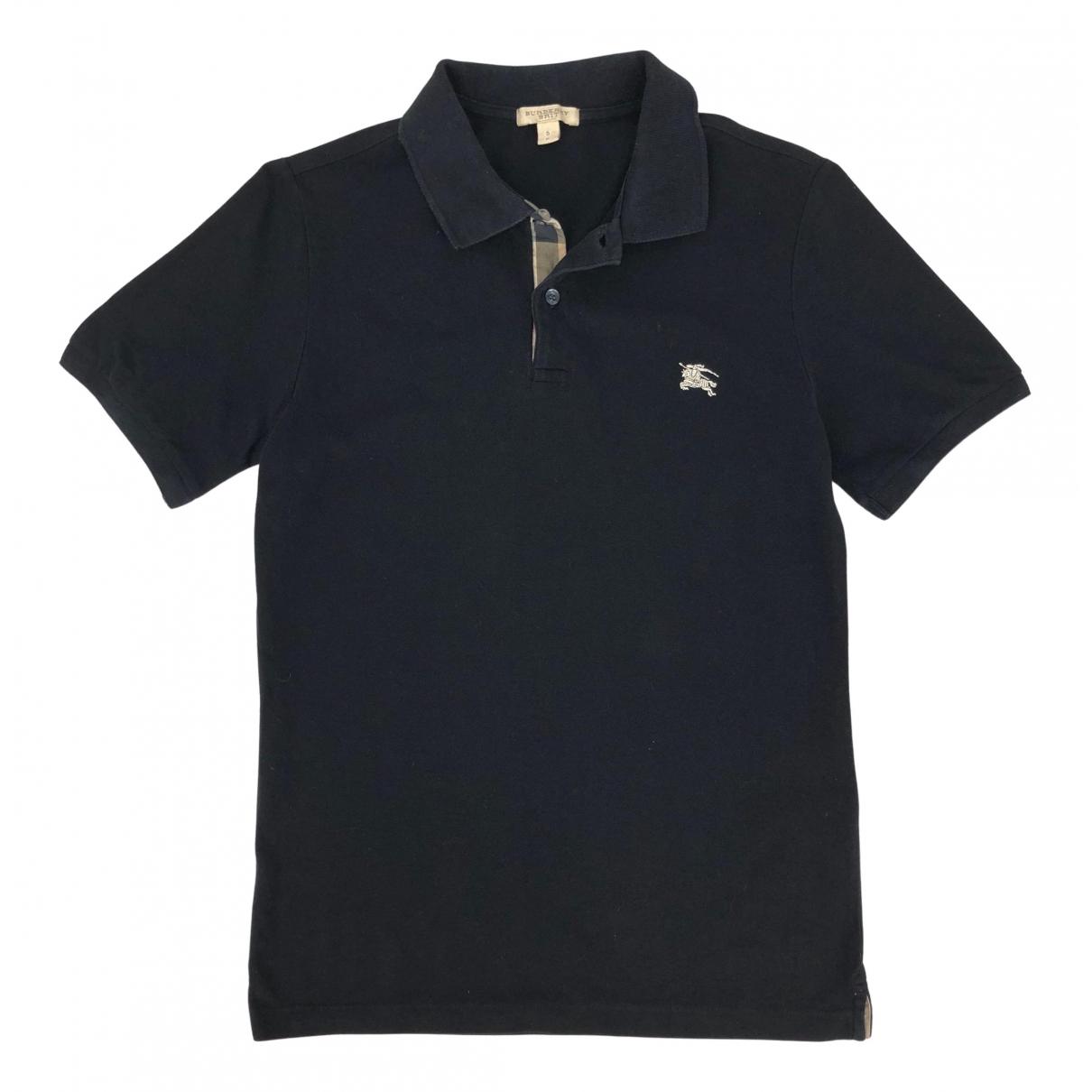 Polo en Algodon Negro Burberry
