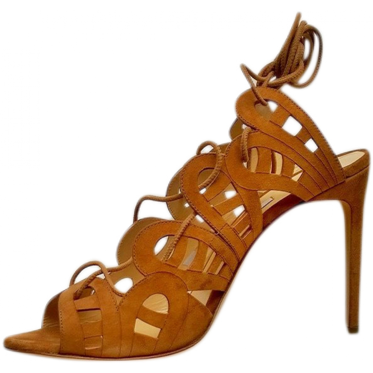 Bionda Castana \N Brown Suede Heels for Women 38.5 EU