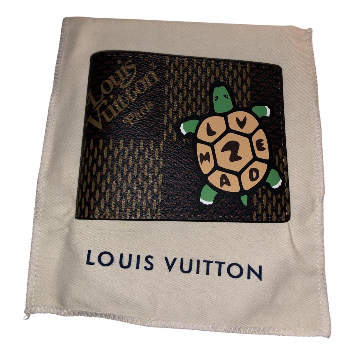 Louis Vuitton X Nigo - Petite maroquinerie   pour homme en cuir - marron
