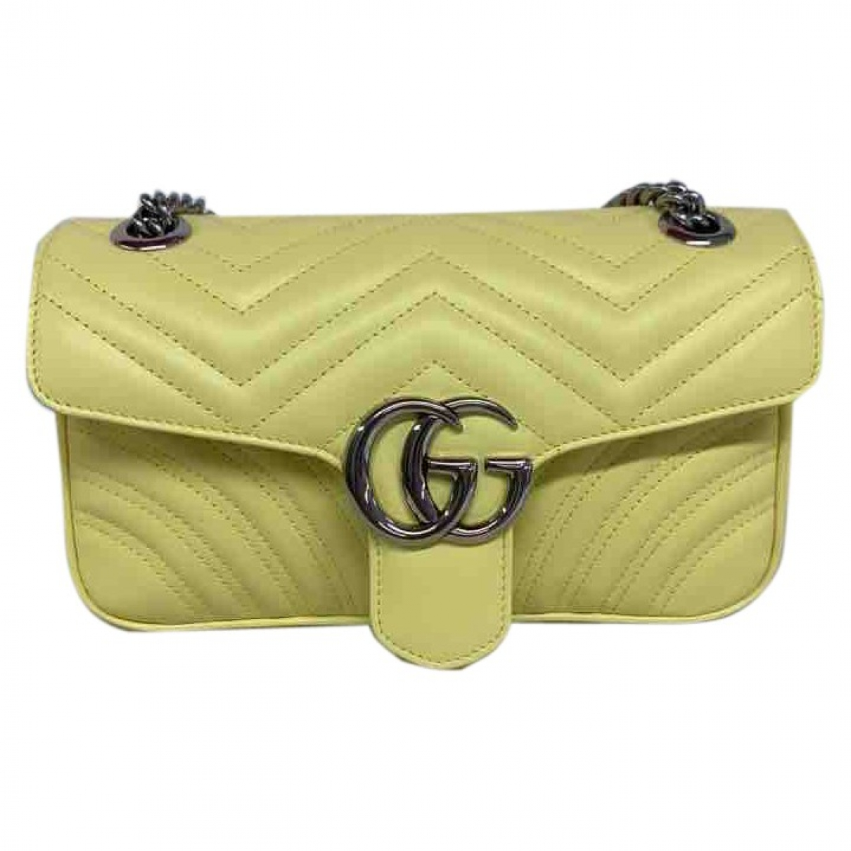 Gucci Marmont Yellow Leather handbag for Women \N