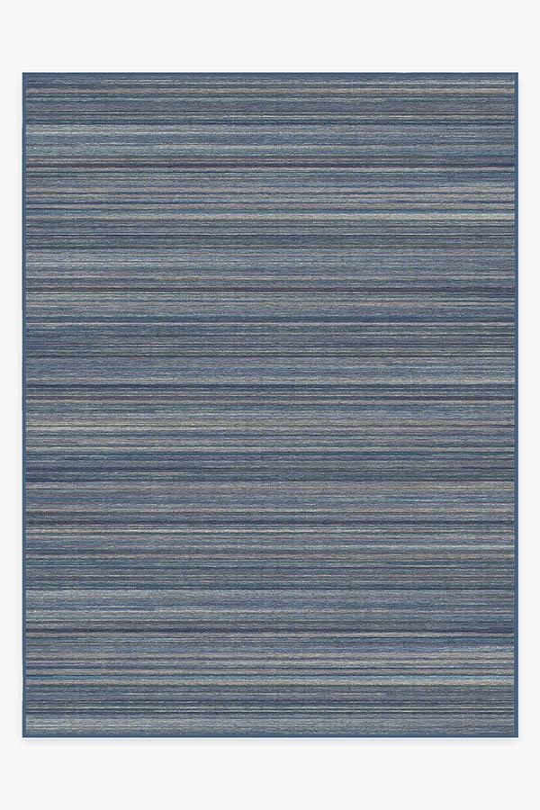 Washable Rug Cover & Pad | Multi Stripe Blue Rug | Stain-Resistant | Ruggable | 9'x12'