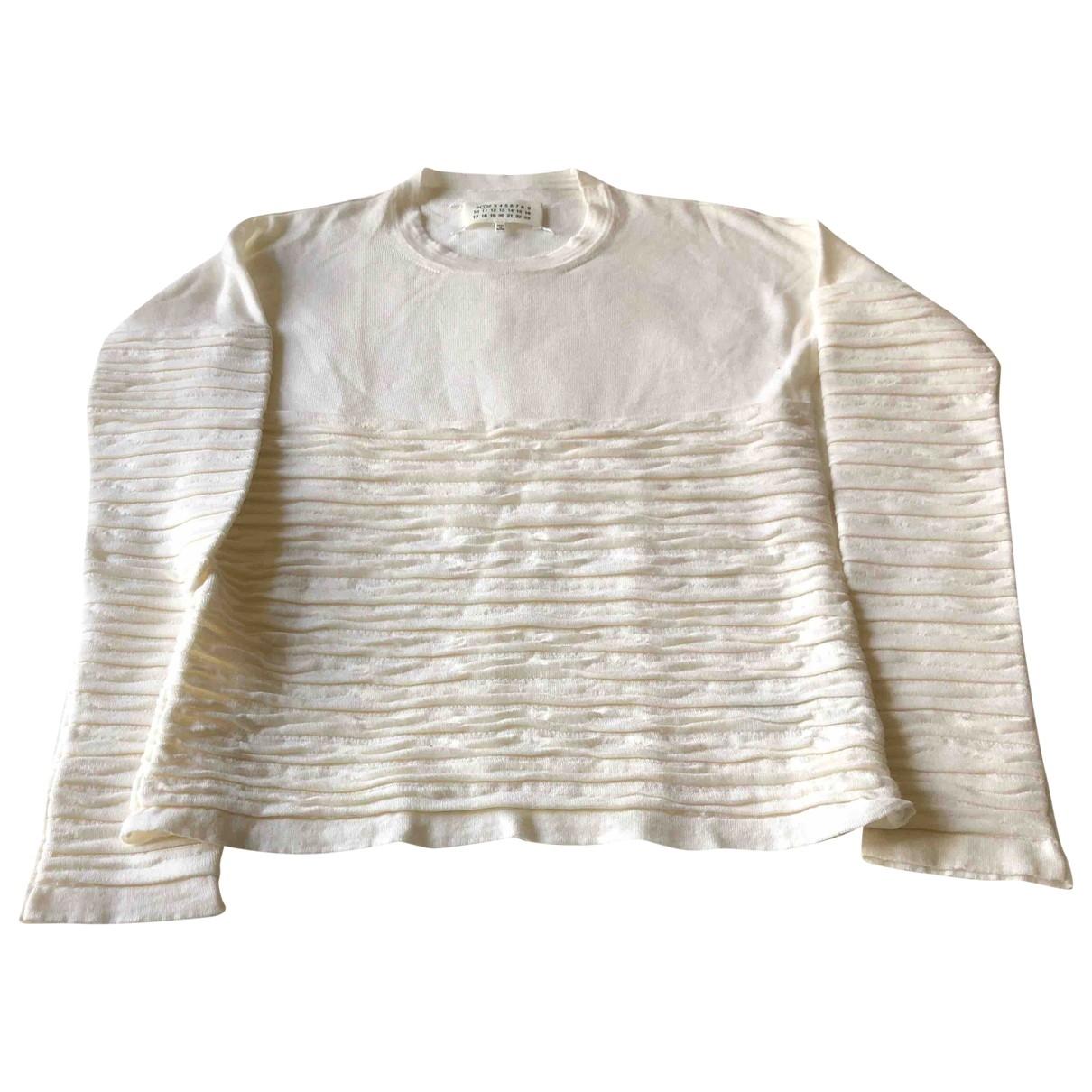 Maison Martin Margiela - Pull   pour femme en laine - blanc