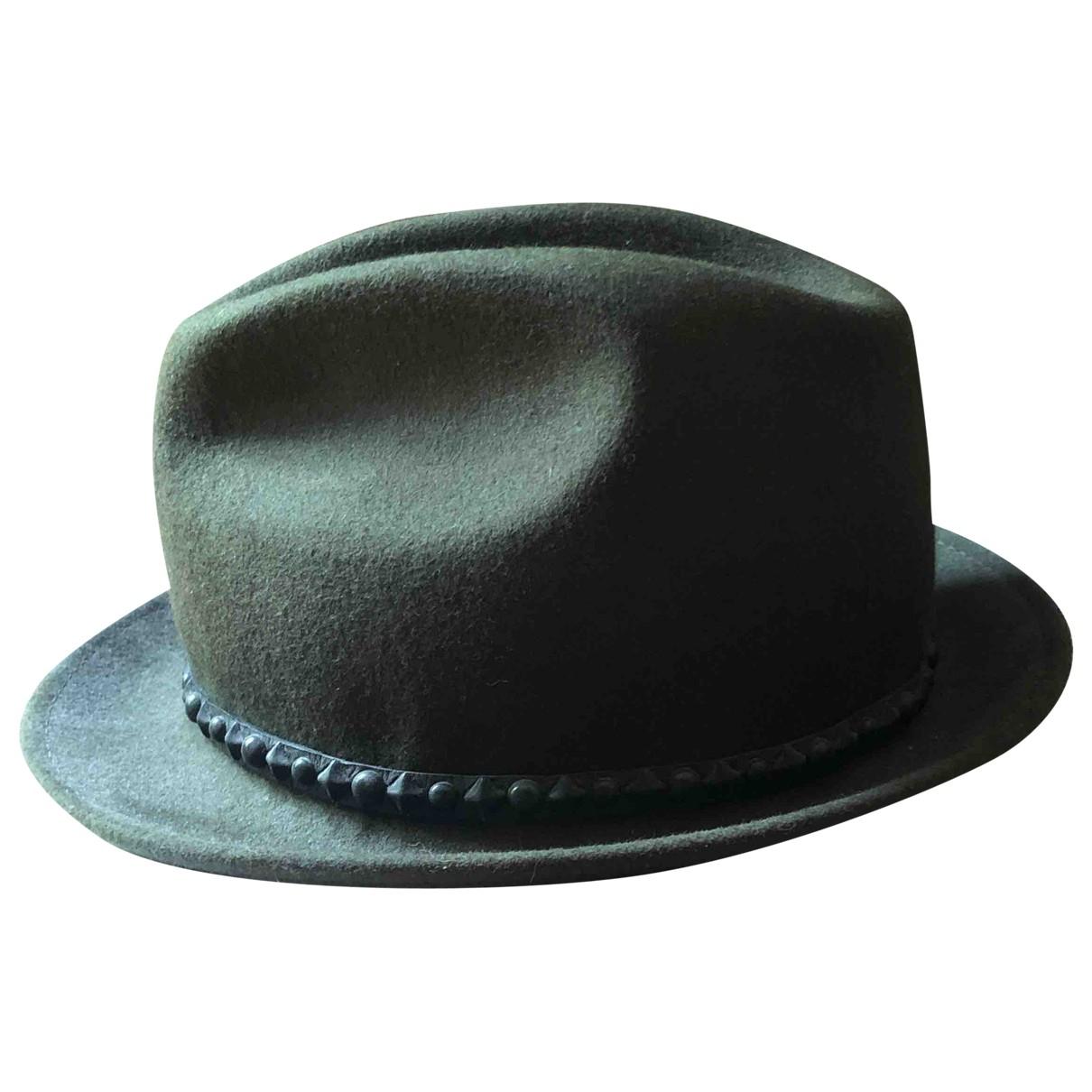 Htc - Chapeau & Bonnets   pour homme en laine - vert