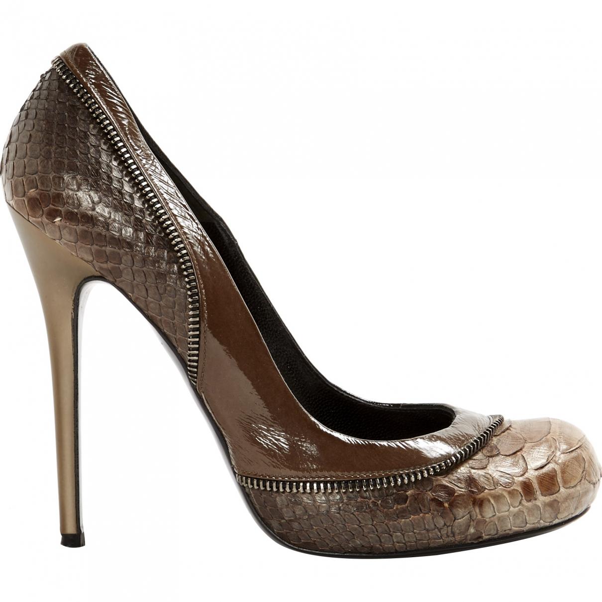 Alexander Mcqueen \N Brown Leather Heels for Women 37.5 EU