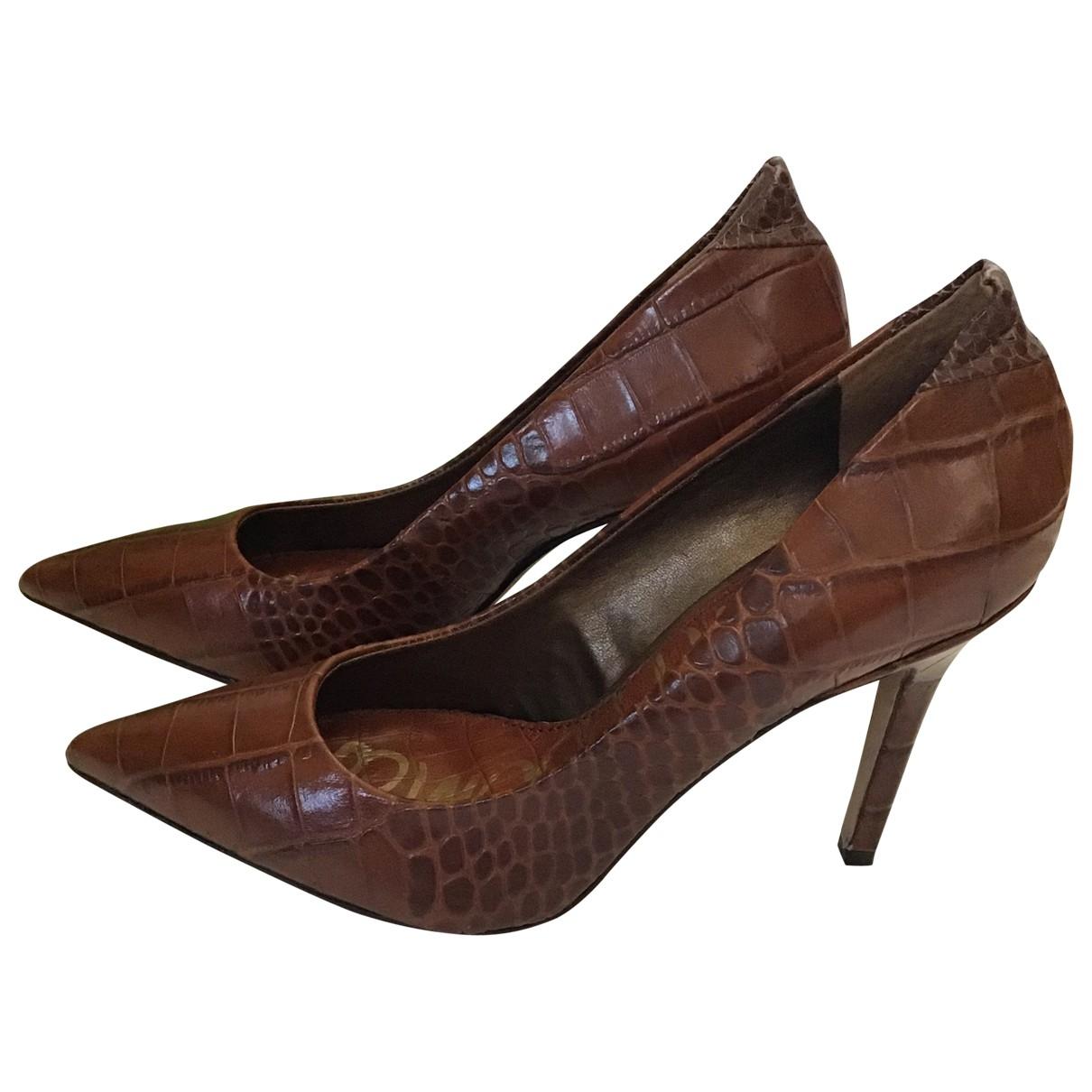 Sam Edelman \N Brown Leather Heels for Women 39 EU