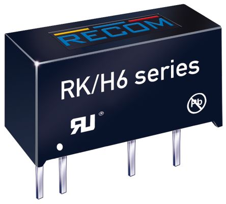 Recom RK 1W Isolated DC-DC Converter Through Hole, Voltage in 13.5 → 16.5 V dc, Voltage out 5V dc