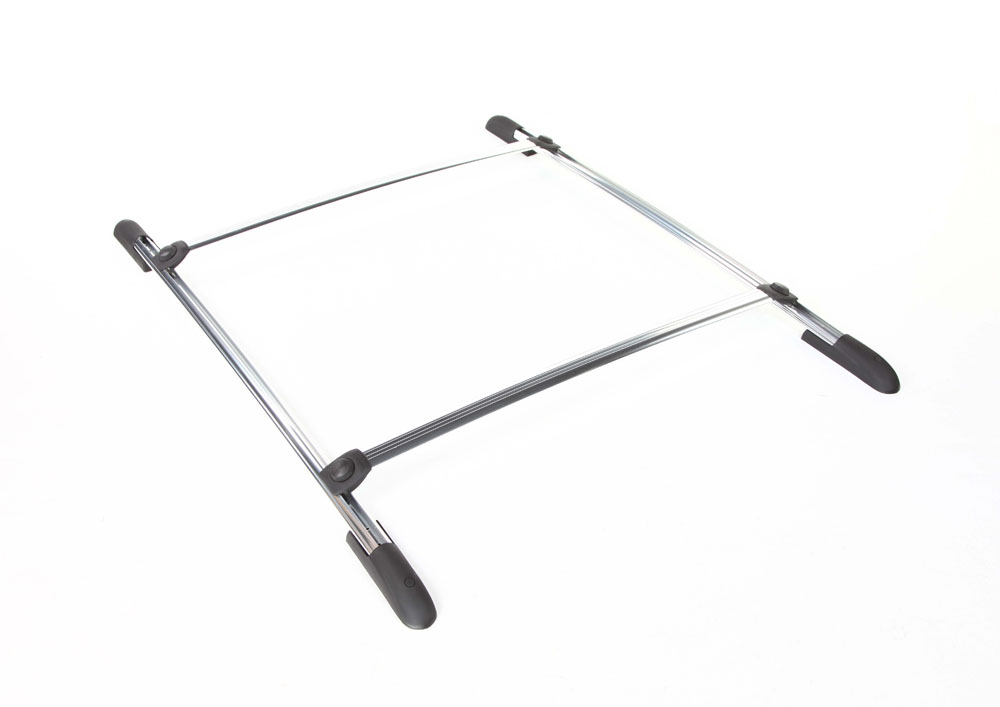 Roof Rack Complete Ready To Install 75 Lb Capacity Kit Anodized 43 Inch W x 55 Inch Long DynaSport Perrycraft DS4355-A