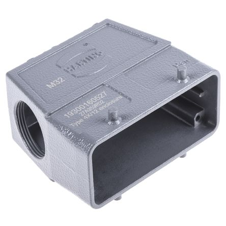 HARTING Han B Series, 16B Side Entry Heavy Duty Power Connector Hood