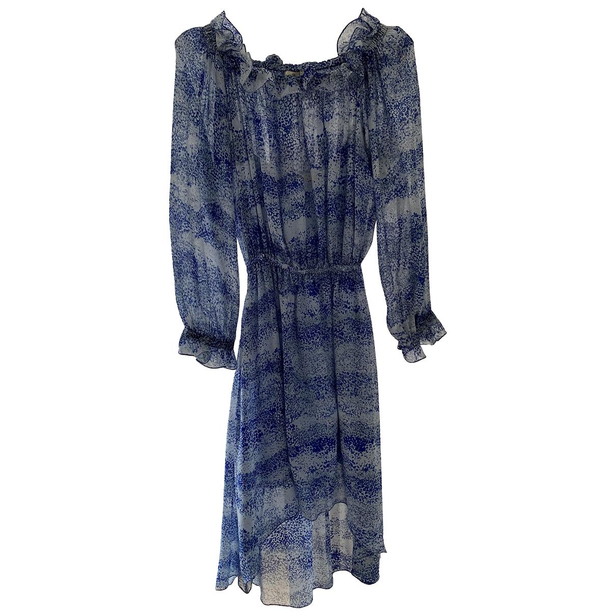 Charlotte Sparre \N Kleid in  Blau Seide
