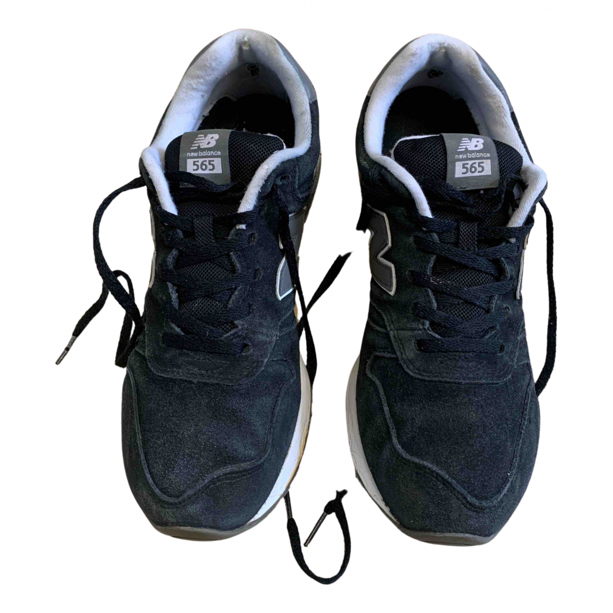 New Balance N Black Suede Trainers for Men 44 EU