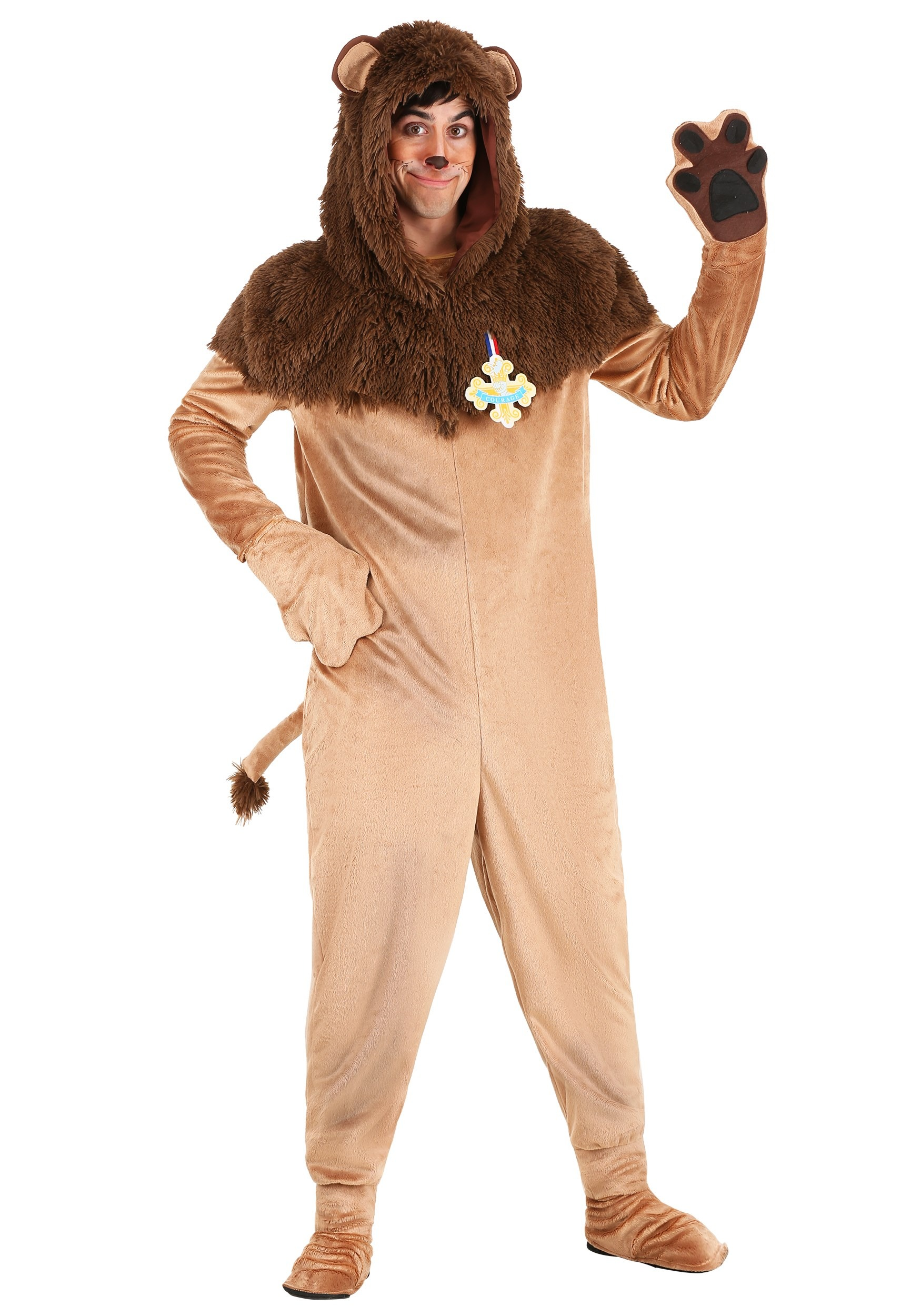 Wizard of Oz Plus Size Cowardly Lion Costume