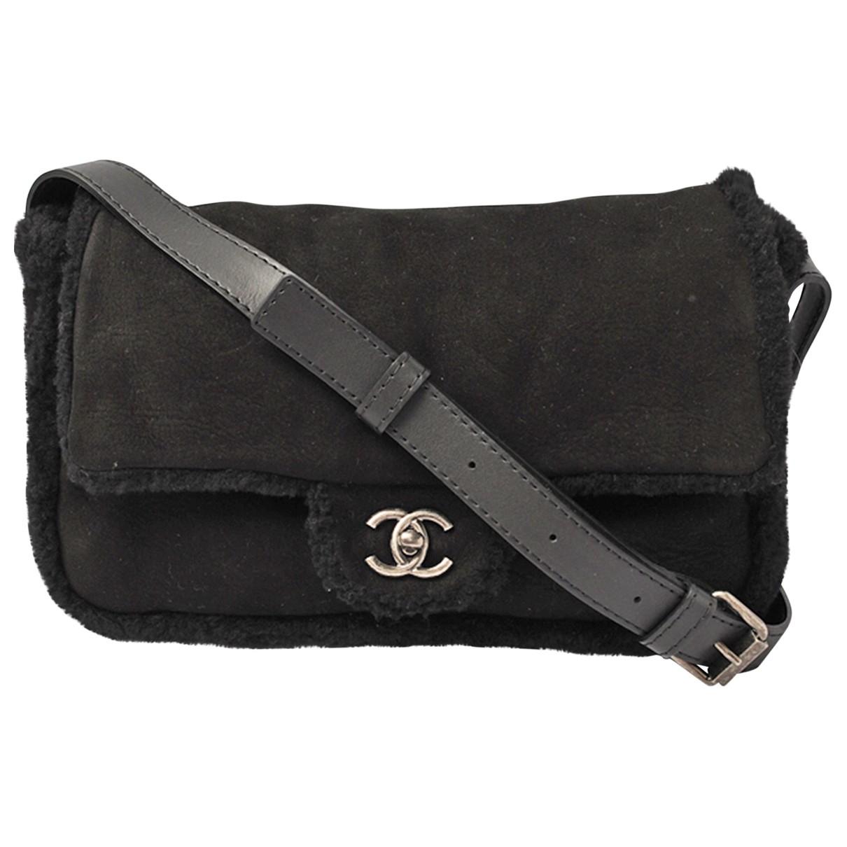 Chanel N Black Suede handbag for Women N