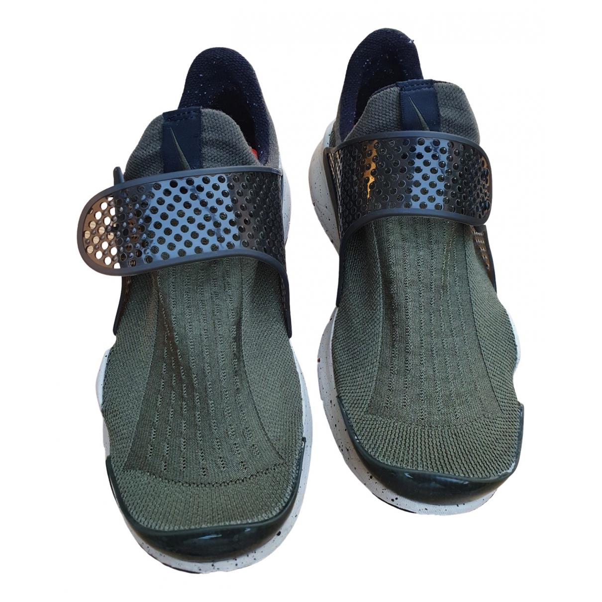 Nike - Baskets Sock Dart pour homme en toile - vert