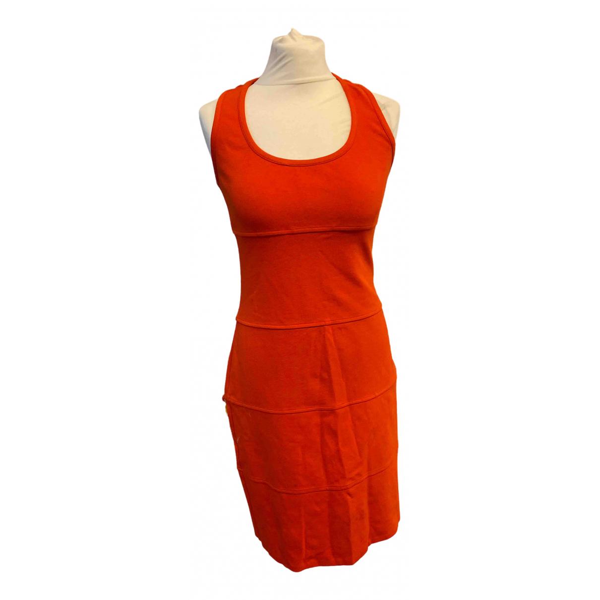 Diane Von Furstenberg \N Red Cotton - elasthane dress for Women 10 US