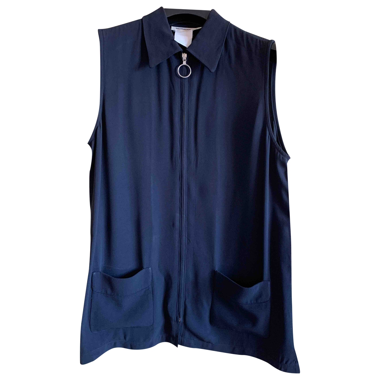 Non Signé / Unsigned Oversize Black  top for Women 44 IT
