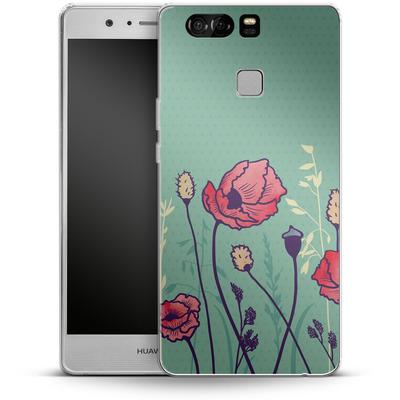 Huawei P9 Silikon Handyhuelle - Summer Field von Little Clyde