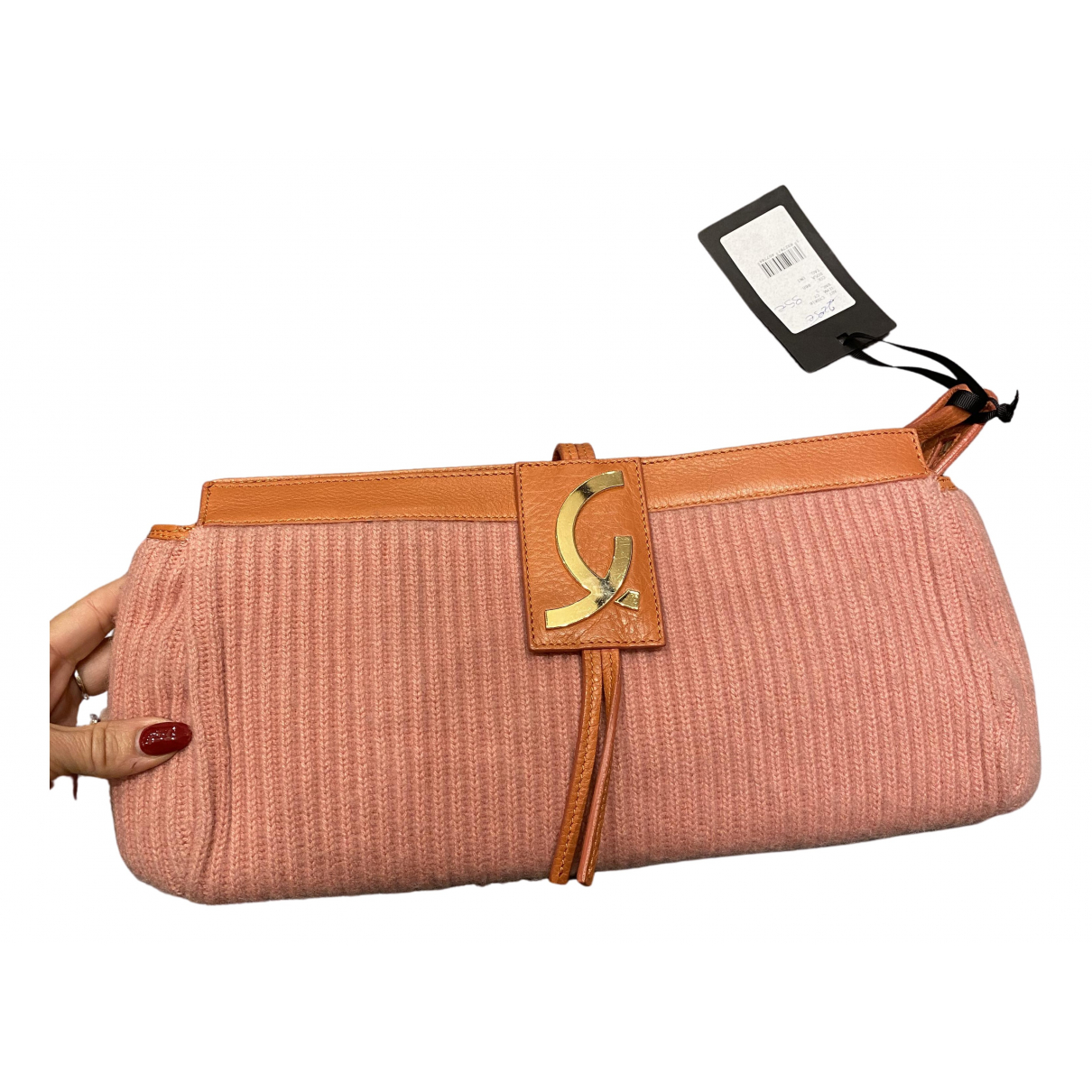Non Signe / Unsigned \N Clutch in  Rosa Wolle